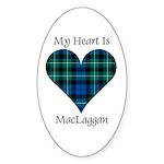 Heart-MacLaggan Sticker (Oval 50 pk)