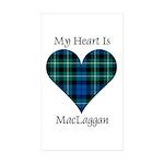 Heart-MacLaggan Sticker (Rectangle 10 pk)