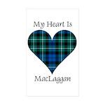 Heart-MacLaggan Sticker (Rectangle 50 pk)