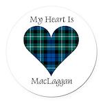 Heart-MacLaggan Round Car Magnet