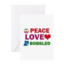 Peace Love Bobsled Designs Greeting Card