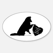 Therapy Heart Black Sticker (Oval)