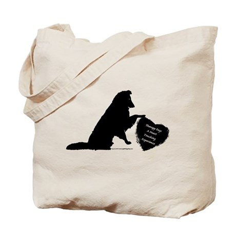 Therapy Heart Black Tote Bag