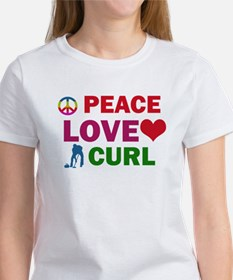 Peace Love Curl Designs Tee