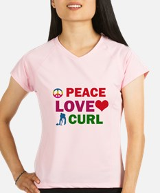 Peace Love Curl Designs Performance Dry T-Shirt
