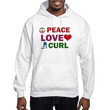 Peace Love Curl Designs Hoodie