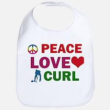 Peace Love Curl Designs Bib