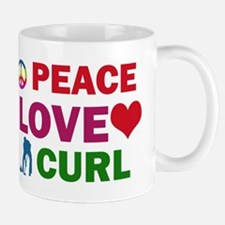 Peace Love Curl Designs Mug