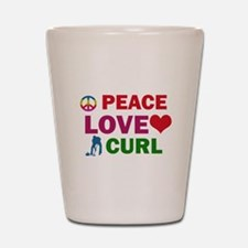 Peace Love Curl Designs Shot Glass