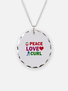 Peace Love Curl Designs Necklace