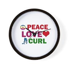 Peace Love Curl Designs Wall Clock