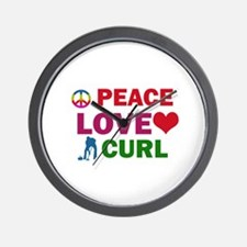 Peace Love Curl Designs Wall Clock