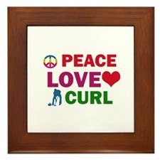 Peace Love Curl Designs Framed Tile