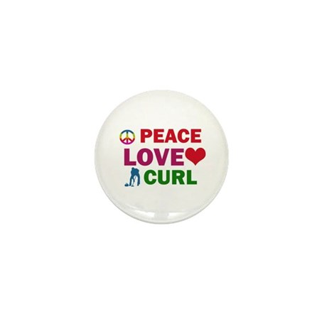 Peace Love Curl Designs Mini Button (100 pack)