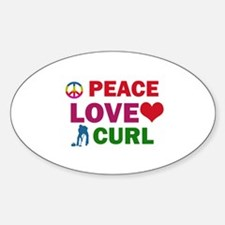 Peace Love Curl Designs Decal