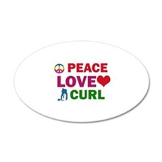 Peace Love Curl Designs Wall Decal