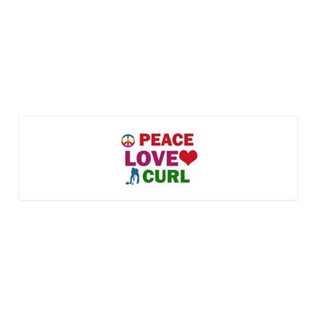 Peace Love Curl Designs 20x6 Wall Decal