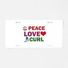 Peace Love Curl Designs Aluminum License Plate