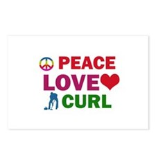 Peace Love Curl Designs Postcards (Package of 8)
