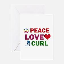 Peace Love Curl Designs Greeting Card