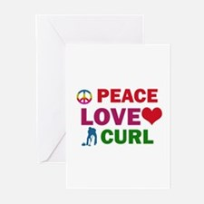 Peace Love Curl Designs Greeting Cards (Pk of 20)