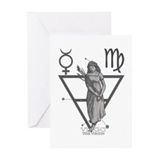 Virgo the Virgin Greeting Card