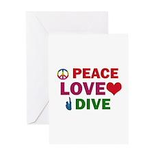 Peace Love Dive Designs Greeting Card