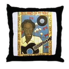 Robert Johnson Hell Hound On My Trail Throw Pillow