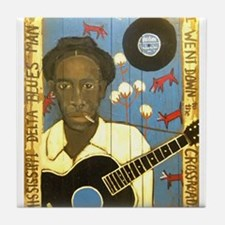 Robert Johnson Hell Hound On My Trail Tile Coaster