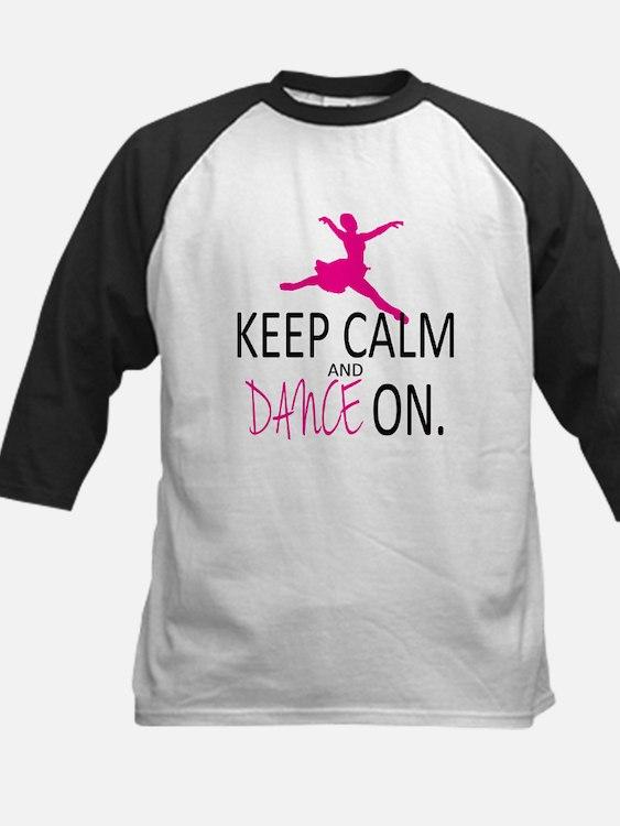 Keep Calm and Dance On Kids Baseball Jersey