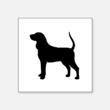"Black & Tan Coonhound Square Sticker 3"" x 3"""