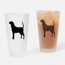 Black & Tan Coonhound Drinking Glass