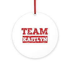 Team Kaitlyn Ornament (Round)