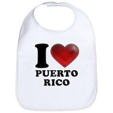 I Heart Puerto Rico Bib