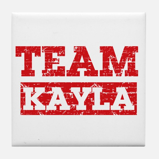 Team Kayla Tile Coaster