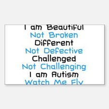 Iam Autism Watch Me Fly Decal