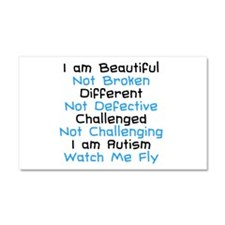 Iam Autism Watch Me Fly Car Magnet 20 x 12