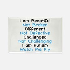 Iam Autism Watch Me Fly Rectangle Magnet (10 pack)