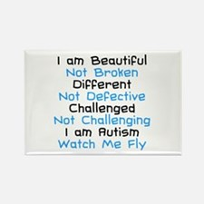 Iam Autism Watch Me Fly Rectangle Magnet