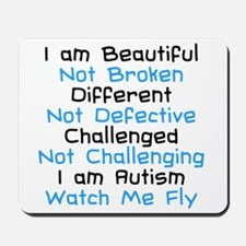 Iam Autism Watch Me Fly Mousepad
