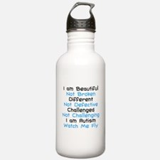 Iam Autism Watch Me Fly Water Bottle