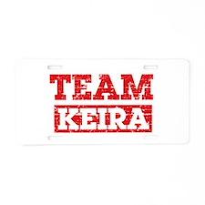 Team Keira Aluminum License Plate