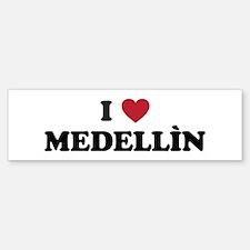 I Love Medellin Bumper Bumper Sticker
