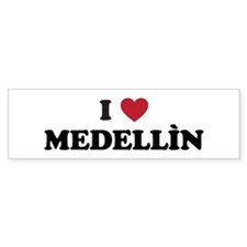 I Love Medellin Bumper Sticker
