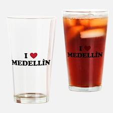 I Love Medellin Drinking Glass