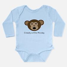 Cheeky Little Monkey Long Sleeve Infant Bodysuit