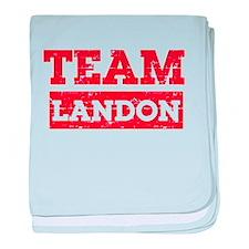 Team Landon baby blanket