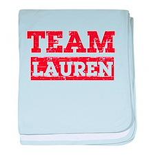 Team Lauren baby blanket