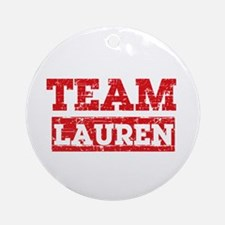 Team Lauren Ornament (Round)