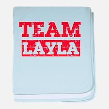 Team Layla baby blanket